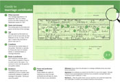 Download an example of a marriage certificate - software capable of viewing .PDF files is required